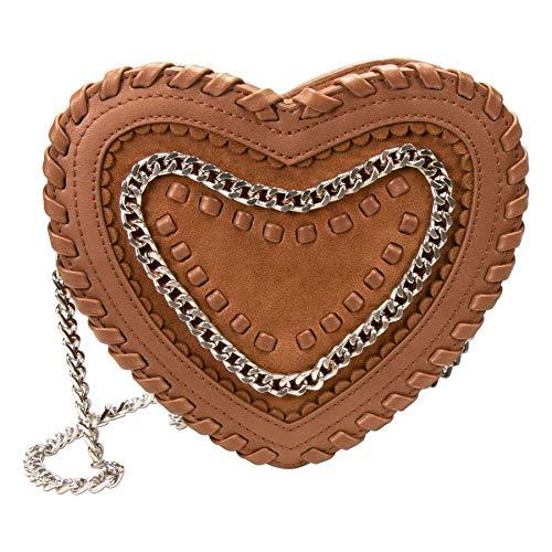 Alpenflüstern Trachtentasche Herztasche Emma (braun) DTA082
