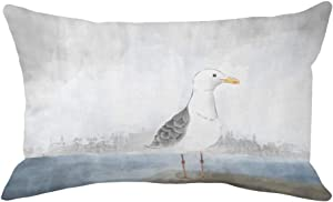 Qinqingo Beach Seagull Decorative Lumbar Pillow Covers Abstract Animal Cushion Covers Super Soft Pillow Cases for Sofa Car 12x20 Inches Summer Throw Pillow Covers (Soft-01)