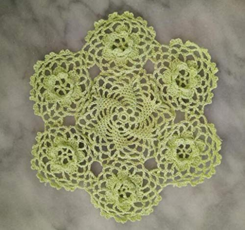 NIKIMI Manteles Individuales Redondos de Estilo Pastoral Crochet de algodón tapete de Flores Posavasos de Cocina Cocina Mantel Decoración de Mesa Accesorios