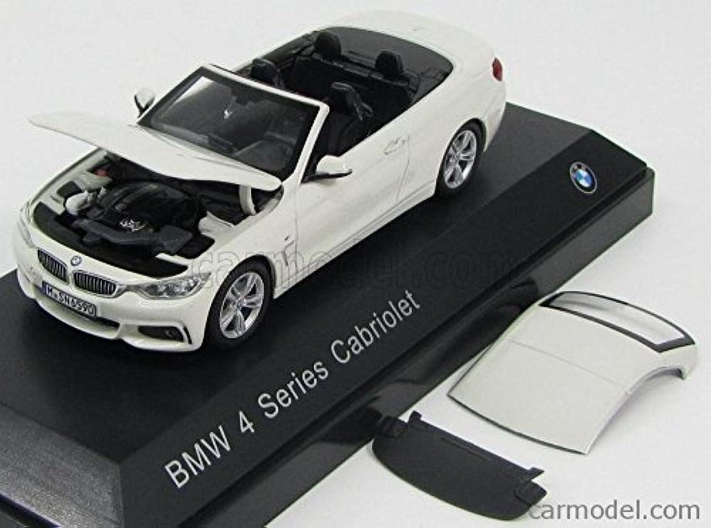 Original BMW 4er ConGrünible   Cabriolet (F33) Modellauto Miniatur 1 43 Alpine Weiß B00WMIQGGU Luxus  | Modern Und Elegant In Der Mode