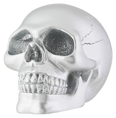 stealstreet Silber Skull Totenkopf Skelett Kopf Sammlerstück Dekoration Statue