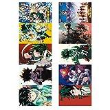 Dick Nathaniei Fabulous 10 piezas/set de cazador de demonios anime impermeable HD Scrub tarjeta de autobús, tarjeta de identificación, regalo caliente para los fanáticos del anime (H01), color H02.