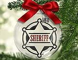 Yor242len Insignia del Sheriff flotante adorno de Navidad, policía policial, honor, valentía, sacrificio