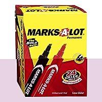 Avery desk-style Permanentマーカー–マーカーポイントスタイル: Chisel–マーカーポイントサイズ: 4.7MM–インクColor :レッド,ブラック–24/ Pack