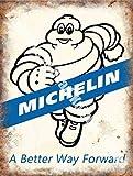 RKO Michelin 171, a Better Way Forward, Pneumatici, Vintage Garage Auto Corsa, Gomma Man, Metallo/Acciaio Insegna - 15 x 20 cm