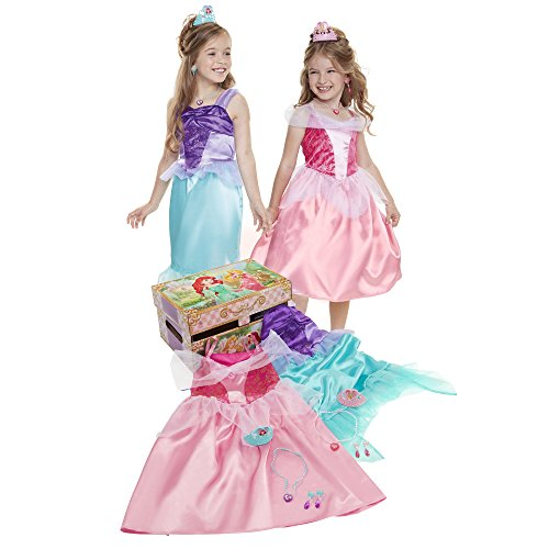Disney Princess Ariel & Aurora Dress Up Trunk Pretend Play Toys