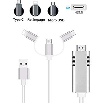 MHL HDMI Cable, Tiancai 1080P USB C/Micro USB/Lighting a HDMI ...