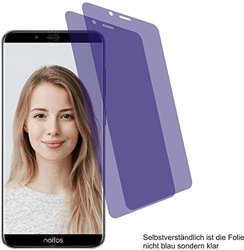 4ProTec I 2X Crystal Clear klar Schutzfolie für TP-Link Neffos X9 Bildschirmschutzfolie Displayschutzfolie Schutzhülle Bildschirmschutz Bildschirmfolie Folie