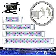 Hengda LED Aquarium Beleuchtung, Aquarium LED Lampe mit Verstellbarer Halterung, LED Licht für Süßwasser-Aquarien