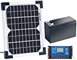 revolt Solarpanel 12V mit Akku: Solarpanel (5 W) mit Ladewandler und Blei-Akku (Solarzelle mit Akku)