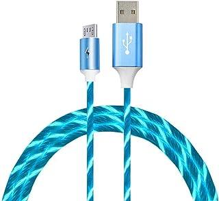 5A szybkie ?adowanie USB kolorowy kabel USB LED p?yn?cy kabel do ?adowarki do telefonu kabel do ?adowania dla IOS Micro typ C