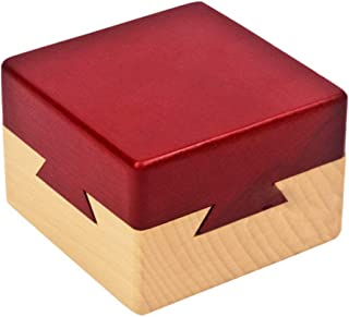 Blovec Wooden Puzzle Box Brain Teaser Magic Drawers Gift Wooden Secret Compartment Brain Game for Adults