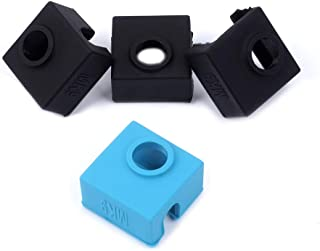 3D Printer Silicone Sock, FYSETC Heater Block Silicone Cover MK7 MK8 MK9 Hotend Heater Protect for Creality CR-10 Mini S4,S5 Anet A8 Ender 3 Tevo Tornado - 3 Pcs, Black