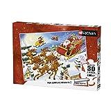 Nathan- Puzzle Tournée du Père Noël 30 pièces, 86364