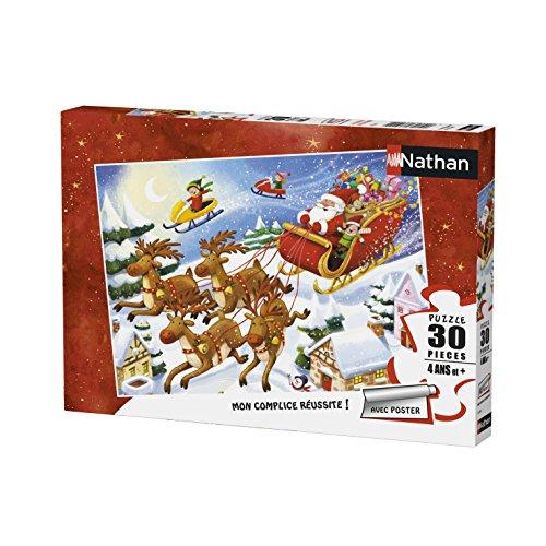 Nathan–Puzzle girata del Babbo Natale 30Pezzi, 86364