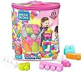 Mega Bloks Sac rose, jeu de blocs de construction, 80 pièces, jouet pour bébé et enfant de 1 à 5 ans, DCH62