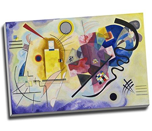 Wassily Kandinsky Kunstdruck auf Leinwand, modernes abstraktes Design, groß, A1, 76,2 x 50,8 cm (30 x 20 Zoll), Gelb / Rot / Blau