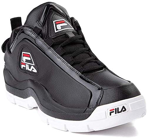 Fila Men's Grant Hill 96 Low Basketball Shoes (9 M US, Black/White/Red)