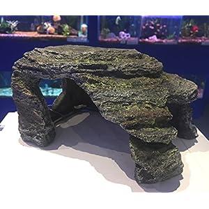 Mezzaluna Gifts Grey Natural Effect Cave Fish Tank Swim-through Hideaway Aquarium Ornament