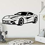Diy coche deportivo extraíble pegatinas de pared artísticas para decoración de dormitorio decoración extraíble calcomanías de pared A8 90x34cm