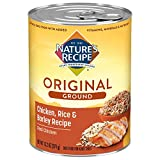 Nature's Recipe Canned Dog Food for Adult Dog, Easy to Digest Chicken Rice and Barley Meal, (12) 13.2 Oz. Cans (3052150842)