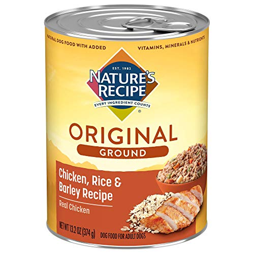 Nature's Recipe Easy to Digest Wet Dog Food, Chicken, Rice & Barley Recipe, 13.2 Ounce Can (Pack of...
