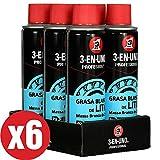 Bricolemar WD40 - Caja Lubricante 3 en 1 Profesional Grasa Blanca de Litio Spray 250ml (6 Botes de Grasa Blanca 3-en-uno)
