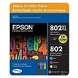 Epson 802 XLBlack 802 Standard Color Ink 4...
