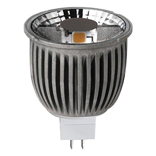 Megaman 141663 - Bombilla LED, 8 W, temperatura de color 2800 k, casquillo MR16 y GU5.3, color dorado