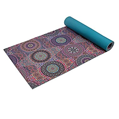 Trideer High-Density Yoga Mat, Premium Printed 1/4  Extra Thick Non-Slip Eco-Friendly Anti-Tear 6mm Floor Pilates Exercise Mat for Yoga, Workout, Fitness with Carrying Strap (Mystic Baroque)
