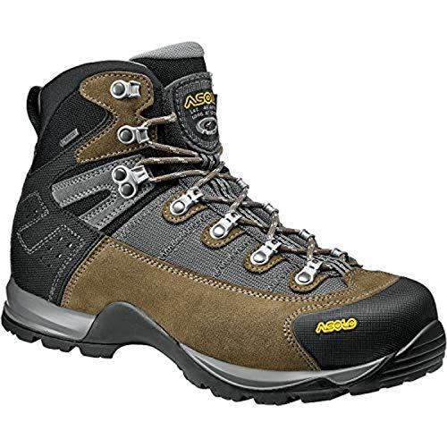 Asolo Men's Fugitive GTX Hiking Boot Truffle 10.5 & Knit Cap Bundle