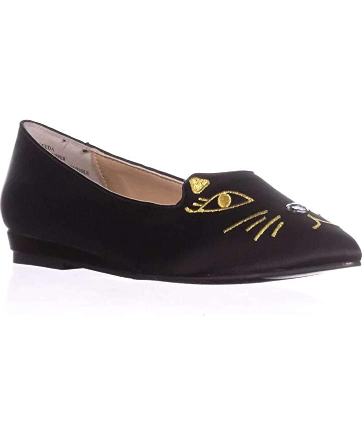 仮定ストレスインストラクター[Thalia] Sodi Womens Freeda Fabric Pointed Toe Loafers [並行輸入品]