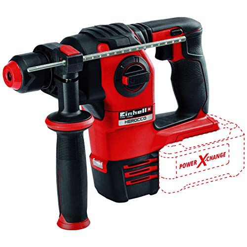 Einhell Herocco Power X-Change 18-Volt Cordless 3/4-Inch, Brushless 1200-RPM Roary Hammer with Shocks, Variable Speed, 2.2J Impact Power, 5500 Blows/Min, w/SDS-Plus, Rotational Drilling, Tool Only