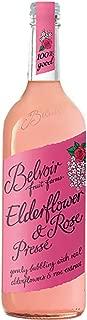 Belvoir Fruit Farms, Organic Elderflower & Rose Lemonade Pressé, All Natural Fruit Juice, Cocktail Mixer, 25.4 fl oz, 75 CL, (6 Glass Bottles)