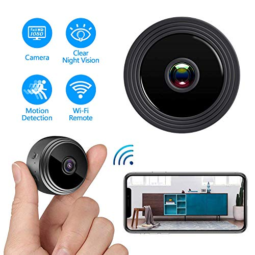 Mini Spy Camera WiFi Wireless Hidden Camera, HD 1080P Home Security Nanny Cam with Night Vision...