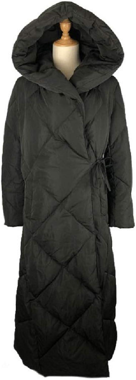 Aehoor Winter Womens Down Jacket Elegant Long 90% Duck Down Coat Thick Slim Warm