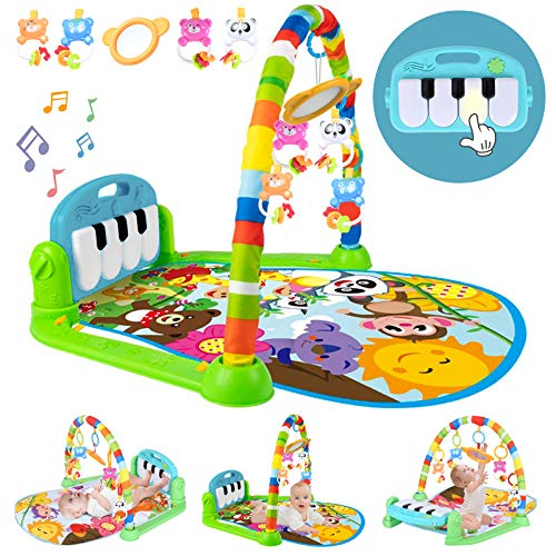 Baby Play Mat Baby Gym With Music And Lights, Activity Gym Mat With Multiple Sensory Infant Baby Toys, Detachable Kick And Play Piano Gym As Baby Gifts For Baby Boys&Girls Ages 0 To 3 6 9 12 Months