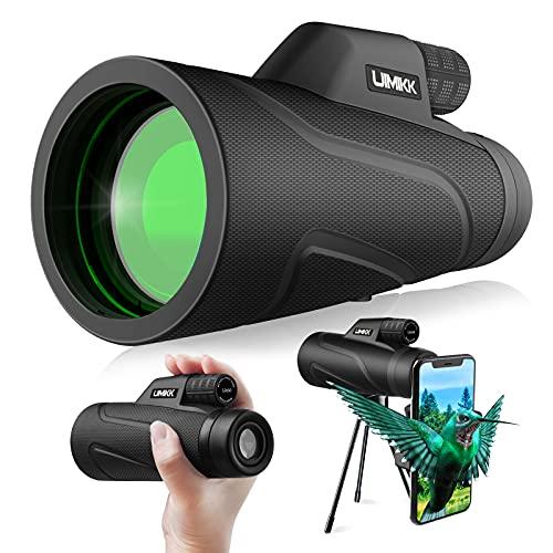 Cannocchiale Professionale Telescopio Monoculare Monocolo Professionale Potente con Treppiede Smartphone 12x50 HD FMC&BAK4 Cannocchiale per Bird Watching, Caccia, Campeggio, Escursionismo, Viagg