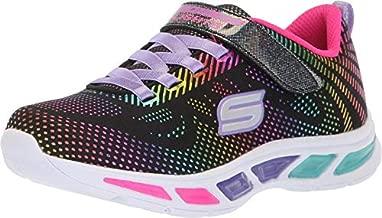 Skechers Kids Girls' Litebeams-Gleam N'DREAM Sneaker, black/multi, 2 Medium US Little Kid