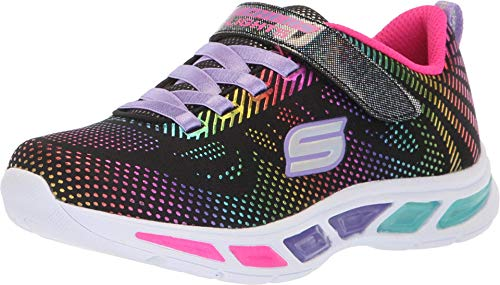 Skechers Litebeams-Gleam N'dream, Zapatillas Niños, Negro Bkmt Black Mesh Multi Foil Print Trim, 30 EU