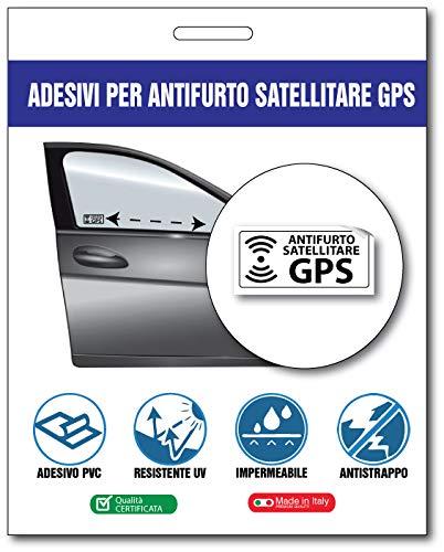 2AINTIMO 10 Adesivi antifurto satellitari specchiati GPS Trasparenti con Effetto Trasparente per Interno autoveicoli Auto, Camion, tir, furgoni, Che avverte sulla presenza di Un Dispositivo GPS
