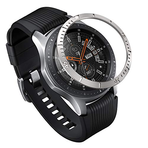Ringke Bezel Styling para Galaxy Watch 46mm / Galaxy Gear S3 Frontier & Classic, Bisel Anillo Cubrir Anti-rasguños Proteccion - [Acero Inoxidable] GW-46-02