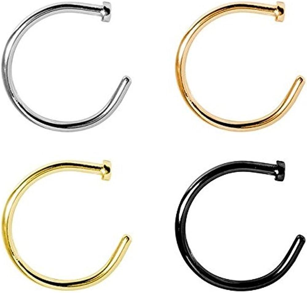 Luxury goods BodyJewelryOnline Nose Hoop Max 60% OFF Ring Surgical Steel 18g 5 Pack 16 4