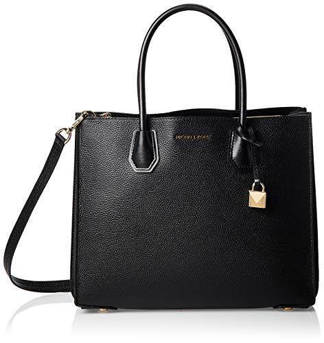 Michael Kors Damen Mercer Bag, Schwarz (Black), 14x26x32 cm