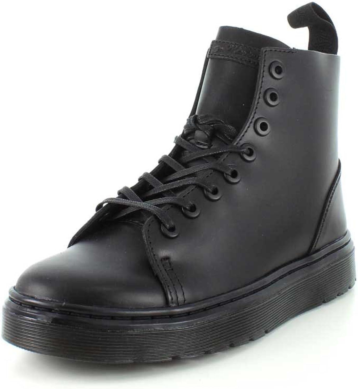 Dr.Martens Womens Talib 8-Eyelet Brando Black Leather Boots 5 US
