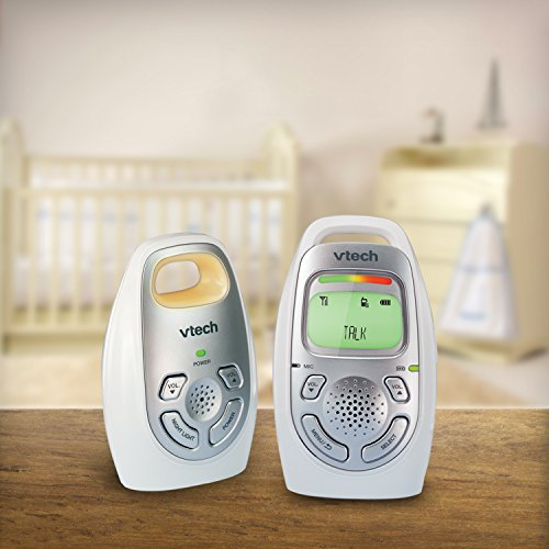VTech DM223 Safe and Sound DECT6.0 Audio Baby Monitor, White