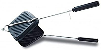 Non-Stick Coating Gas Sandwich Toaster Snack Sandwich Griller (Black & 1 Piece) Gas Toaster Grill.