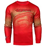 NFL San Francisco 49ers PRINTED GRADIENT Ugly Sweater, X-Large