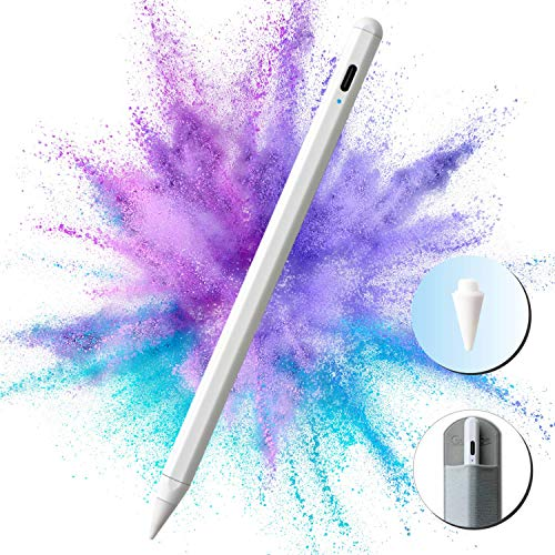 Gutliebe Stylus Pen for Apple iPad Pen with Tilt Sensitivity, Palm Rejection, High Precision and Magnetic Attachment, Type-C Rechargeable Stylus for Drawing and Writing on the iPad 2018-2020