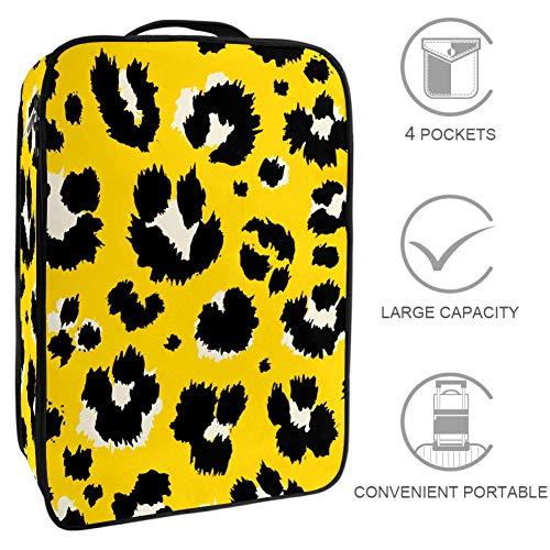 TIZORAX - Caja organizadora de zapatos con estampado de leopardo sin costuras